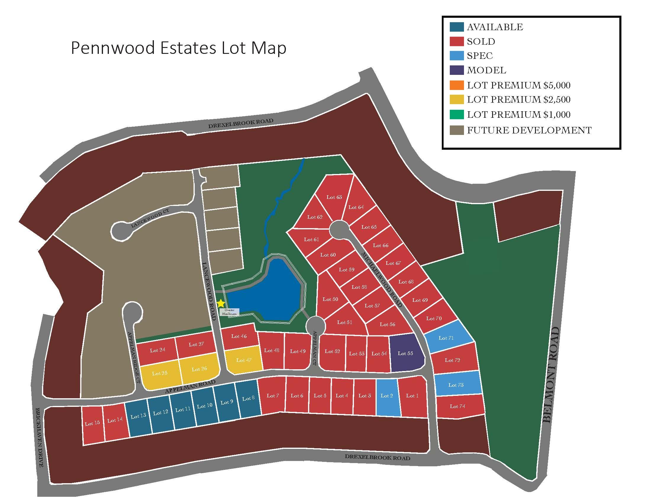 Pennwood Lot Map 2.23.21